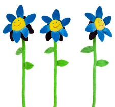 Free Artificial Smiling Flowers Royalty Free Stock Image - 5048866