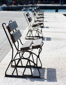 Row Of Benches Royalty Free Stock Photo