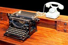 Free Typewriter And Phone Stock Photos - 5049533