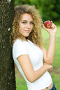 Free Holding An Apple Stock Photos - 5051753