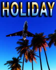 Free Holiday Plane And Wild Palms 10 Stock Image - 5050451