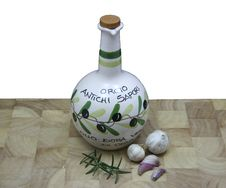 Free Olive Oil Garlic And Fresh Rosemary Royalty Free Stock Image - 5050686