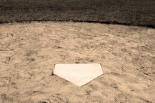 Free Home Plate Royalty Free Stock Photo - 5051655