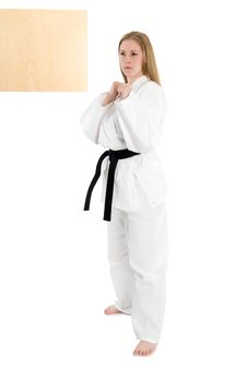 Free Martial Arts Woman Royalty Free Stock Photography - 5051897