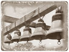 Free Moscow. Church Bells (retro Stylization) Royalty Free Stock Image - 5054226