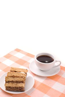 Free Coffee And Cake Royalty Free Stock Photo - 5054305