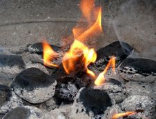 Free Burning Charcoal Royalty Free Stock Photo - 5054485