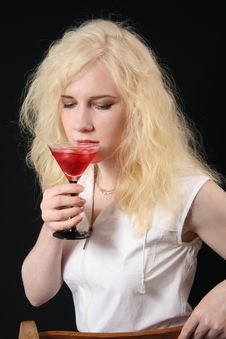 Free Girl With Martini Stock Images - 5054644