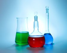 Free Various Colorful Flasks Stock Images - 5055634