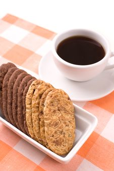 Free Coffee And Cookies Royalty Free Stock Images - 5055719