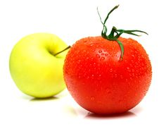 Yellow Apple And Tomato