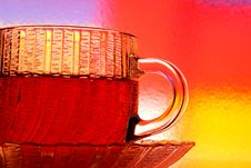 Glass Teacup And Saucer Royalty Free Stock Photography