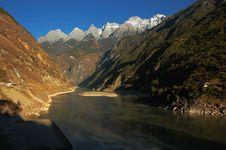 JinSha River Royalty Free Stock Image
