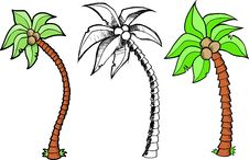 Tree Set Vector Royalty Free Stock Image