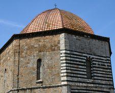 Volterra - Baptistery Royalty Free Stock Photo