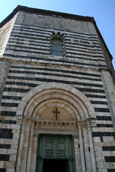 Volterra - Baptistery Royalty Free Stock Photography