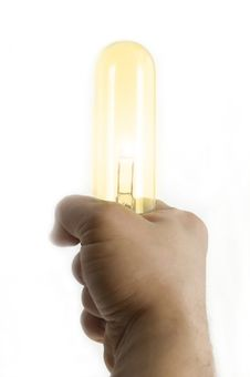 Free Light In Hand Royalty Free Stock Photo - 5057915