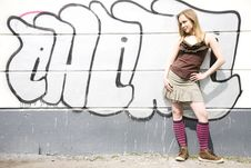 Free Graffiti Girl Stock Image - 5057951