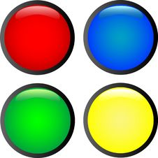 Free 4 Multi-coloured Buttons Royalty Free Stock Photography - 5058347