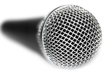 Free Microphone On A White Background Royalty Free Stock Images - 5058489