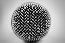 Free Microphone On A White Background Royalty Free Stock Images - 5058499