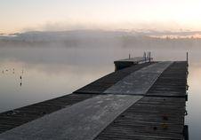 Free Misty Sunrise On Lake Royalty Free Stock Photography - 5058617