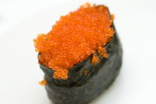 Free Sushi With Red Caviar Stock Photo - 5058850