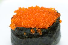 Free Sushi With Red Caviar Stock Photography - 5058852