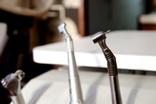 Free Dentists Tools At Table Dental Royalty Free Stock Images - 5059309