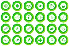 Chemistry Buttons Royalty Free Stock Photography