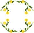 Free Flower Frame Royalty Free Stock Photos - 5060538