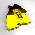 Free 3d Flag Map Of Baden Württemberg Stock Photography - 5061402