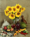 Free Still-life With Sunflowers Royalty Free Stock Photography - 5066967