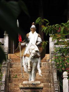 Free Hero On White Horse Stock Images - 5060284