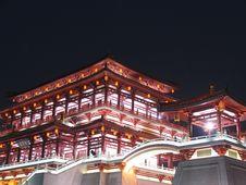 Free Tang Dynasty Lotus Garden Stock Photography - 5060692