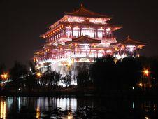 Tang Dynasty Lotus Garden Royalty Free Stock Photos