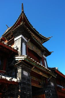 Free City Gate Tower In Lijiang Royalty Free Stock Photo - 5060775