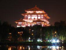 Tang Dynasty Lotus Garden Royalty Free Stock Images