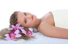Free Attractive Woman Getting Spa Treatment Stock Image - 5061371