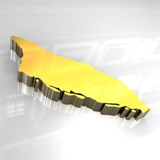 Free 3d Golden Map Of Aruba Royalty Free Stock Photography - 5061637