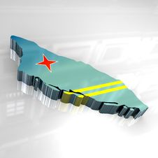 Free 3d Flag Map Of Aruba Royalty Free Stock Photography - 5061657