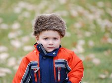 Free Child Out In Cold Royalty Free Stock Photography - 5062137