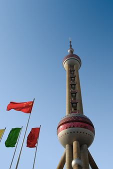 Free Oriental Pearl Tower Royalty Free Stock Photo - 5062445
