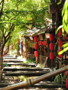 City View Of Lijiang Stock Images