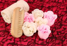 Soap Flowers Stock Images
