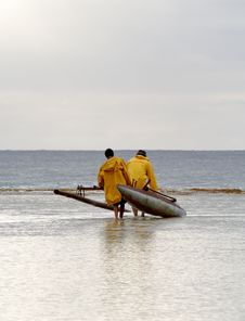 Traditional Fishermen On Reef