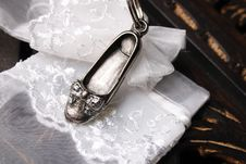 Free Silver Flat Shoe Stock Photo - 5063520