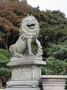 Free Stone Lion Stock Images - 5063744
