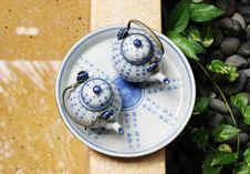 Free Tea Set. Royalty Free Stock Photography - 5064537