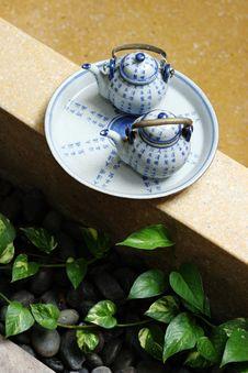 Free Tea Set. Stock Photography - 5064552